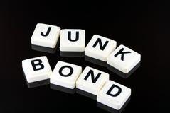 词风险债券-用于事务的用语在财务和股市贸易 库存照片