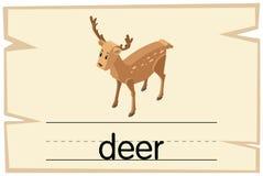 词鹿的Wordcard模板 皇族释放例证