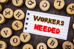 词,文字,文本工作者需要 概念性照片查寻事业资源雇员在泪花写的失业问题n 免版税图库摄影