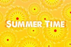 词组在抽象晴朗的背景的夏时 库存图片