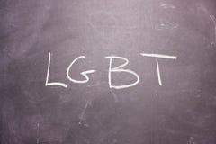 词LGBT书面白垩 图库摄影