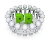 词PR。 免版税库存图片