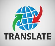 译者的传染媒介横幅 免版税库存图片