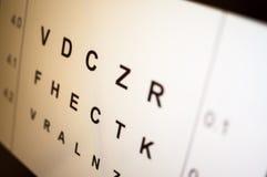 试验视力字标型 库存图片