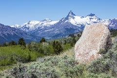 试验索引峰顶山冰砾天空 图库摄影