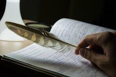 诗人创造一个杰作 免版税图库摄影