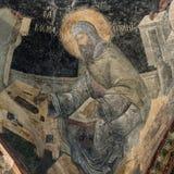 诗人圣徒Kosmas的壁画 免版税图库摄影
