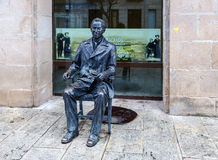 诗人安东尼奥马查多雕塑在索里亚 免版税库存图片