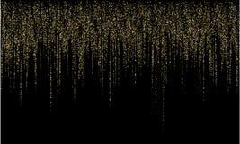 诗歌选边界金子闪烁传染媒介背景例证 向量例证