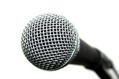 话筒普遍的歌唱者 库存图片