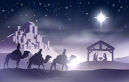 诞生圣诞节场面 免版税库存图片