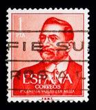 诞生百年-巴斯克斯de Mella,政治serie,大约1961年 免版税库存照片