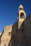 诞生的教会的钟楼在伯利恒。 库存图片