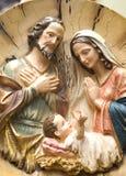 诞生耶稣雕塑 库存照片