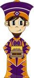 诞生Biblical国王漫画人物 库存照片
