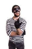 诡计多端犯罪邀请用手 库存照片