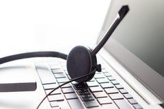 询问台、顾客服务、支持热线或者电话中心 库存照片