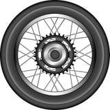 详细例证摩托车轮子 免版税库存照片