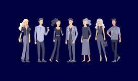 详细的字符学生,生活方式,年轻人夫妇街道时髦的衣裳样式的 年轻人与 向量例证