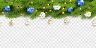 详细的无缝的圣诞节诗歌选 现实传染媒介 库存图片