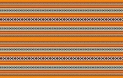 详细的水平的传统被手工造的橙色Sadu地毯 库存例证