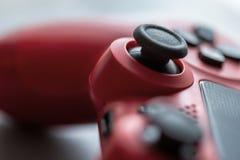 详细红色赌博控制器 免版税图库摄影