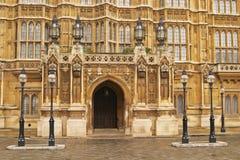 详细资料入口安置伦敦议会 免版税图库摄影