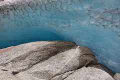 详细资料冰川挪威 免版税库存图片