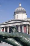 详细资料喷泉伦敦方形trafalgar 库存照片