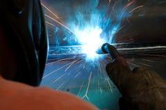 详细资料处理焊接 免版税图库摄影