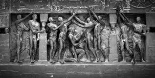 详细资料巴黎人雕塑 免版税库存照片