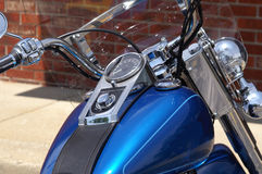 详细资料引擎摩托车 图库摄影