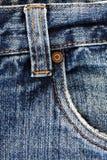 详细资料牛仔裤 免版税库存照片