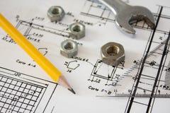 详细资料结构工具 免版税库存图片