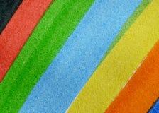 详细资料绘了彩虹 免版税库存照片