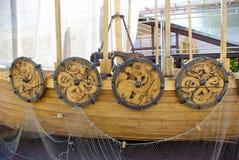 详细资料船北欧海盗 免版税库存图片