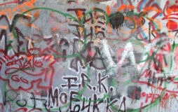 详细资料街道画墙壁 库存图片