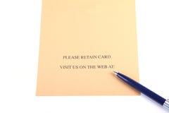 详细资料表单 免版税图库摄影