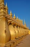 详细资料金黄老挝寺庙 免版税图库摄影