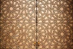 详细资料门道入口摩洛哥人 免版税库存照片