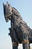 详细资料马巨大的特洛伊人 图库摄影