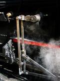 详细资料齿轮机车蒸汽 免版税库存图片