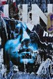 详细资料graffitti墙壁 免版税库存照片