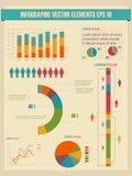 详细资料infographic向量例证。 免版税库存照片