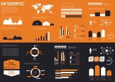 详细资料infographics集 皇族释放例证