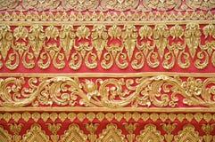 详细资料lampang luang phrathat墙壁 免版税库存图片