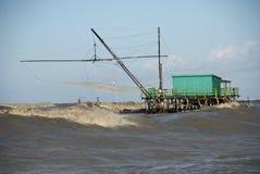 详述二意大利海滨广场比萨风暴 库存图片