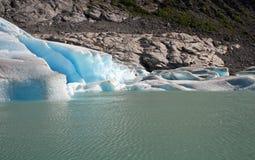 详述冰川 库存照片