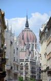 详述匈牙利parlament 免版税图库摄影