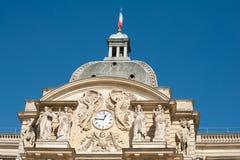 详述卢森堡宫殿顶层 库存照片